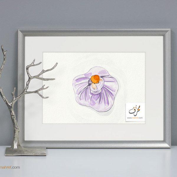 Sufi Dance watercolor from Top
