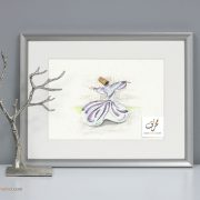 Sufi Dance watercolor