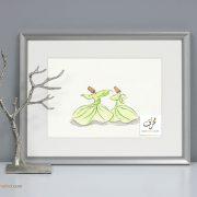 Sufi Dance watercolor