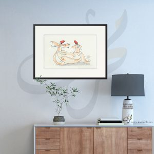 Watercolor Sufi Dance Frame